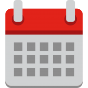 Red and grey calendar icon
